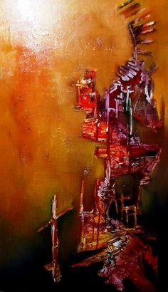 """""""Sentado a la diestra"""" - Juan Echeverría - Oleo sobre tela - 100 x 60 cm www.esencialismo.com"""