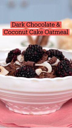 Fun Baking Recipes, Sweet Recipes, Dessert Recipes, Cooking Recipes, Healthy Desayunos, Good Food, Yummy Food, Overnight Oats, Chocolate Recipes