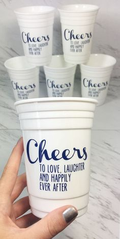 Engagement party favor idea - Customize these cups for a fun surprise. Pick the…
