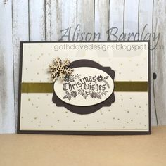 Gothdove Designs - Alison Barclay - Stampin' Up! Australia - Stampin' Up! Cozy Christmas stamp set #stampinup #christmas #card #vellum #snowflake #stampinupaustralia #gothdovedesigns