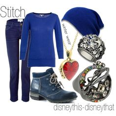 Stitch-winter, created by disneythis-disneythat on Polyvore