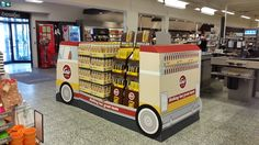 Take a right with us in the Cocio bus, now at your store. Large POS display.