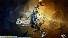 Paul George 'Uncontainable' Wallpaper | Posterizes.com - NBA Wallpaper Artwork