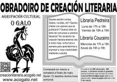Creación literaria en librarías nos meses de marzo, abirl, maio e xuño de 2014 en distintas librarías de Compostela