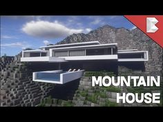Minecraft: Modern Mountain House Infinity Pool Build Tour w/ Keralis John Snow Villa Minecraft, Minecraft Mods, Minecraft Mountain House, Minecraft Modern Mansion, Minecraft Houses Survival, Easy Minecraft Houses, Minecraft Plans, Minecraft Houses Blueprints, Minecraft City