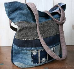 jeans and other fabrics ..love this bag !
