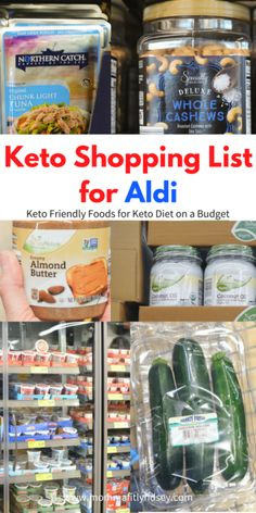 55 Keto on a Budget Food Items and shopping list for foods for ketogenic diet approved foods on a budget. My 55 best budget friendly Keto diet foods at ALDI Ketogenic Diet Plan, Ketogenic Diet For Beginners, Keto Diet For Beginners, Keto Meal Plan, Diet Meal Plans, Aldi Meal Plan, Atkins Diet, Keto On A Budget, Budget Meals