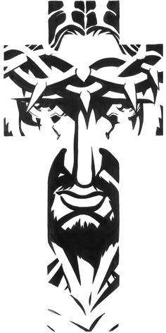 Jesus On Cross Tattoo, Cool Cross Tattoos, Christ Tattoo, Jesus Tattoo, Jesus On The Cross, Anchor Tattoo Design, Tattoo Design Drawings, Catholic Art, Religious Art