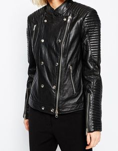 Image 3 of Gestuz Leather Jacket with Studs