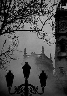 It's a great time of the year in October with the fog and cool weather Gothic Horror, Gothic Art, Dark Skies, Dark Places, Dark Beauty, Dark Art, Black And White Photography, Mists, Creepy