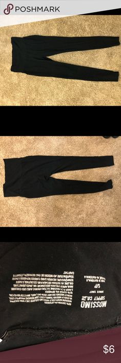 Black Skinny Leg Yoga Pants Black yoga pants with a skinny leg. they do have just a tiny bit of color fading from the washer and dryer but overall in good condition. Size small with the big fold over band on top. Any questions feel free to ask! Pants