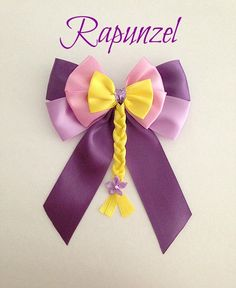 Disney inspired Tangled Rapunzel princess hair bow