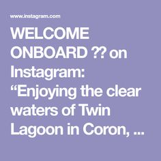 """WELCOME ONBOARD ✈️ on Instagram: """"Enjoying the clear waters of Twin Lagoon in Coron, Palawan Philippine with @bdbm_coron Island Expedition👌🏽😍 . . . #travelgram #palawan…"""" Coron Island, Coron Palawan, Twin, Places, Water, Instagram, Gripe Water, Twins, Lugares"""