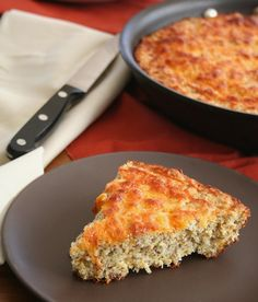 Cheesy Skillet Bread.  Very filling.  Gluten free, grain free, sugar free, low carb