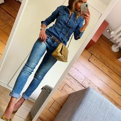 Casual Work Outfits, Mode Outfits, Work Casual, Stylish Outfits, Summer Outfits, Fashion Outfits, Looks Jeans, Outfit Jeans, Business Outfits
