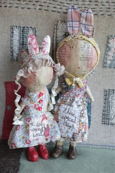…these one of a kind papier mache figures are ladened with British artist Julie Arkell's signature style, available at  http://www.earthangelsstudios.com/Julie-Arkell-C44.aspx