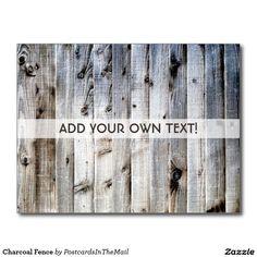 Charcoal Fence Postcard