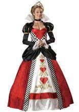 Adult Premier Queen of Hearts Costume Alice In Wonderland Costumes.plus size too! Queen Of Hearts Halloween Costume, Red Queen Costume, Halloween Fancy Dress, Adult Halloween, Costume Halloween, Women Halloween, Halloween Party, Party Costumes, Halloween 2016