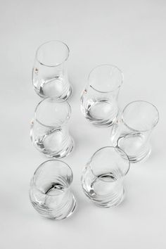Italian Crystal Glasses by Angelo Mangiarotti for Colle, 1990s | From a unique collection of antique and modern crystal serveware at https://www.1stdibs.com/furniture/dining-entertaining/crystal-serveware/