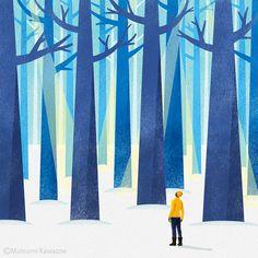 Have a good winter! Color Schemes, Landscape, Winter, Creative, Illustration, Outdoor Decor, Home Decor, Draw, Travel
