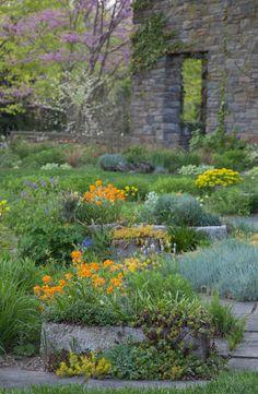 Troughs in the Gravel Garden. Chanticleer, US