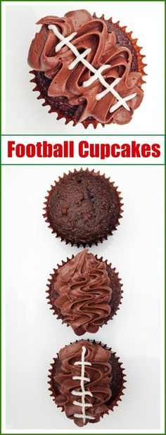 This football cupcake recipe, a delicious dessert for game day!