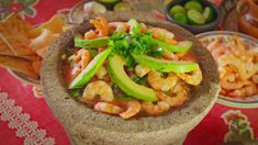 This spicy Mexican take on the classic dish is traditionally eaten the morning after a fiesta as a pick me up. Its fresh flavours and prawns are given a kick from the chillis Prawn Recipes, Fish Recipes, Mexican Food Recipes, Snack Recipes, Ethnic Recipes, Spicy Prawns, Roasted Shrimp, Prawn Cocktail, Good Food Channel