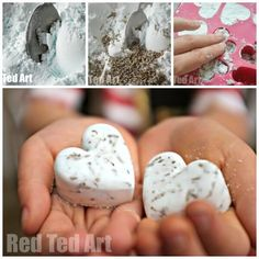 Bath Bomb Recipe that kids can make from Red Tent Art