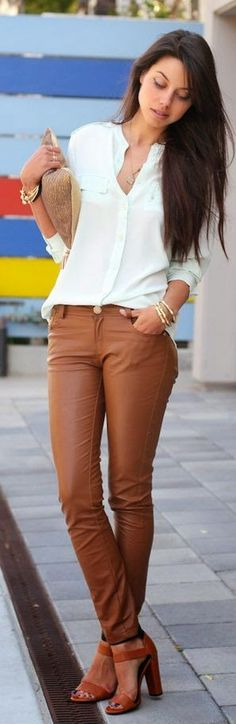 White and Brown Classic Outfits