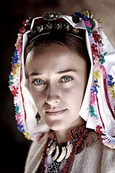 Pretty eyes of a Catholic girl from Debeljak, Bosnia.
