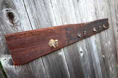 Reclaimed Brown Wood Wall Rack for Coats/Hats/Jackets by Vintage05, $42.00