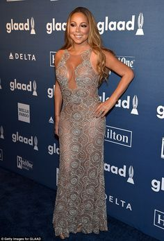 69d1d7f2d04 Mariah Carey and Laverne Cox wow at the New York GLAAD Media Awards