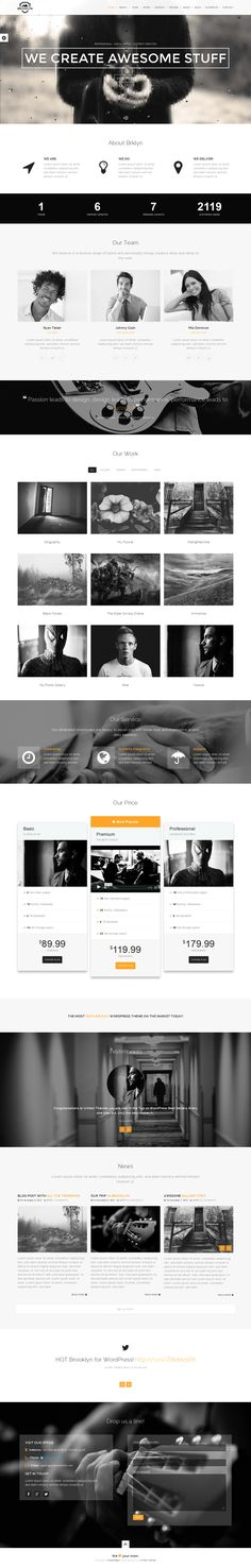 Brooklyn Theme with Rainy Effect! by WordPress Awards, via Behance