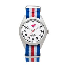 SMU Mustangs Watch w/ Stripe NATO Strap