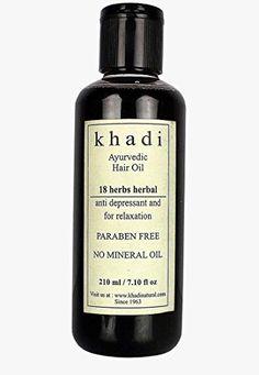 KHADI - 18 Herbs Herbal Ayurvedic Hair Oil - 210ml KHADI