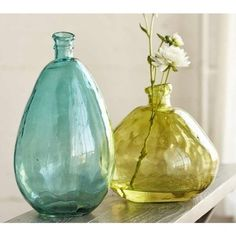 11 sea glass inspired summer decorating finds - Colored Glass Vases