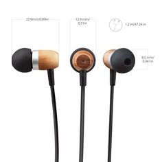 Amazon.com: Inateck Premium Genuine Wood Corded In-ear Headphones Earbuds Noise-isolating Earphone for iPhone, iPad, Samsung, PC Laptop and More Smartphones, Tablets: Cell Phones & Accessories