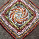 Free Crochet Spiralling into Spring Granny Square Pattern