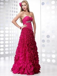 Alyce Paris 6601 is a soft chiffon evening dress with a sheer neckline, fully beaded bodice, and cutout back. Red Homecoming Dresses, A Line Prom Dresses, Cheap Prom Dresses, Prom Party Dresses, Quinceanera Dresses, Evening Dresses, Dresses 2013, Pink Dresses, Dresses Online