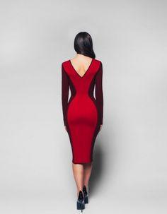 Платье футляр красно-бордовое — ybatelier.ru