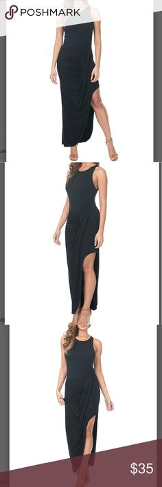 Sexy sleeveless black maxi dress with side slit Brand New and super classy and sexy. This dress is super flattering and soft! Side slit reveals your legs and the material is 95% rayon from bamboo and 5% spandex. The material simply kisses your skin and moves softly with your elegance. Dresses Maxi