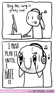 b for bel: Every time I hear a good song...