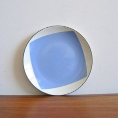 Cathrineholm Flag Square Plate White and Lilac by ModernSquirrel on Etsy