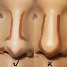 How to contour your nose correctly.