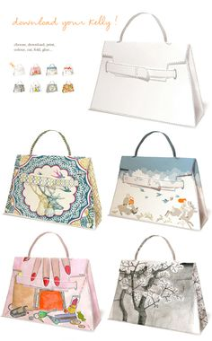 IF YOU CAN'T BUY IT MAKE IT!  Print your own Hermes bag