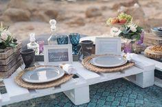 picnic dinner for beach wedding Check this natural boho set up for the wedding picnic