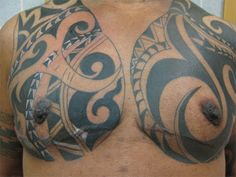 25 Adorable Tribal Chest Tattoos | CreativeFan
