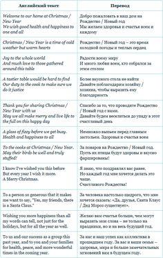Новогодние тосты и поздравления #english #английский #xmas #christmas #рождество #newyear #новыйгод Russian Language Learning, Language Study, English Language, English Story, English Words, English Lessons, English Grammar Tenses, English Vocabulary, Learn Russian