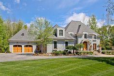 European style home, elevation photo houseplan.com #38681