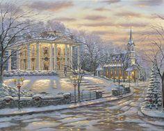 Robert Finale - Joys of Christmas - North Carolina - Inspirational - Winter Collection - oil on canvas